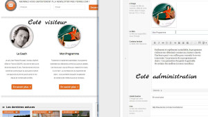 Exemple d'administration WordPress simplifiee